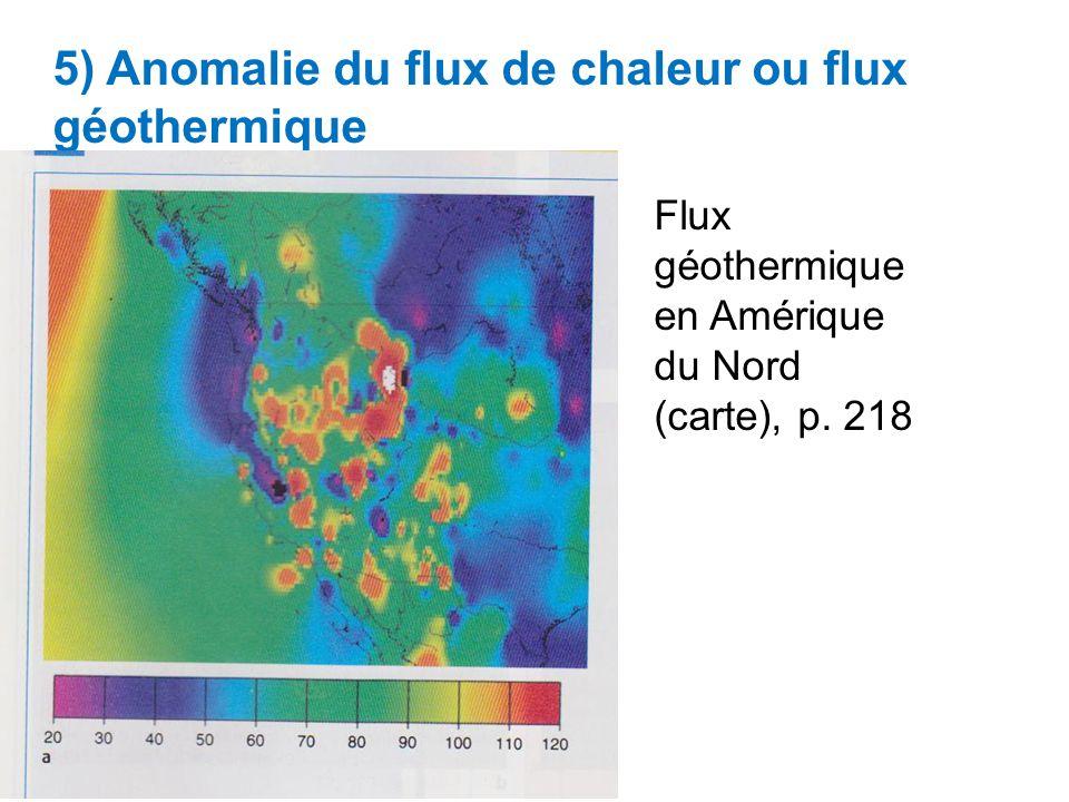 5) Anomalie du flux de chaleur ou flux géothermique