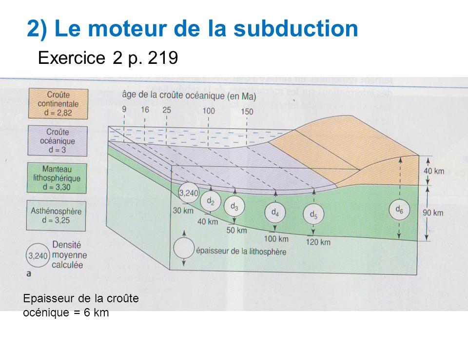 2) Le moteur de la subduction