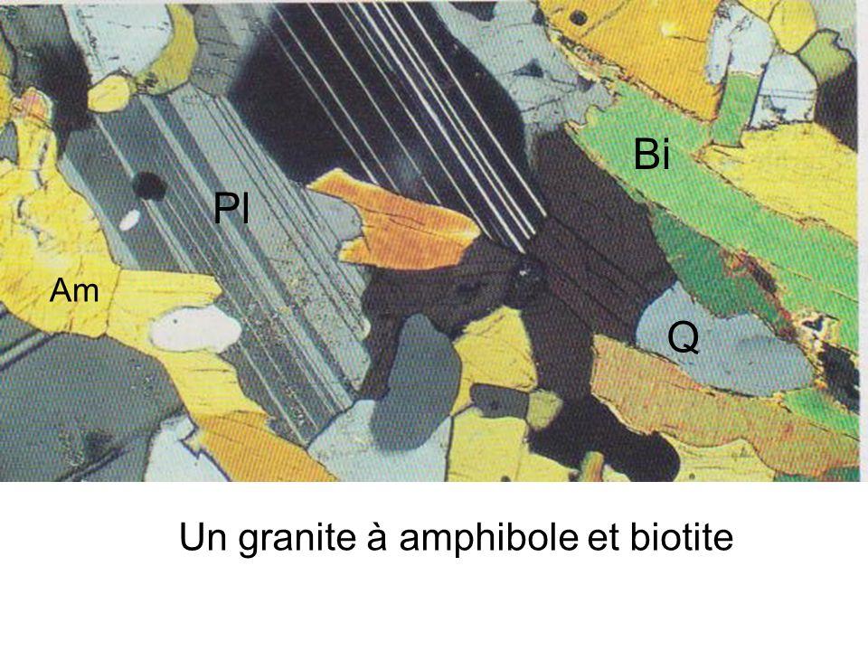 Bi Pl Am Q Un granite à amphibole et biotite