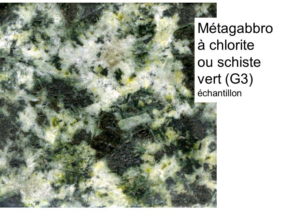 Métagabbro à chlorite ou schiste vert (G3)