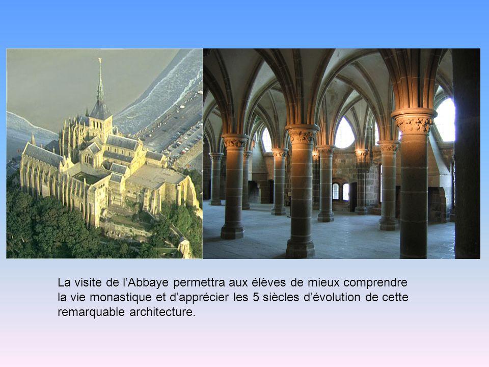 La visite de l'Abbaye permettra aux élèves de mieux comprendre la vie monastique et d'apprécier les 5 siècles d'évolution de cette remarquable architecture.