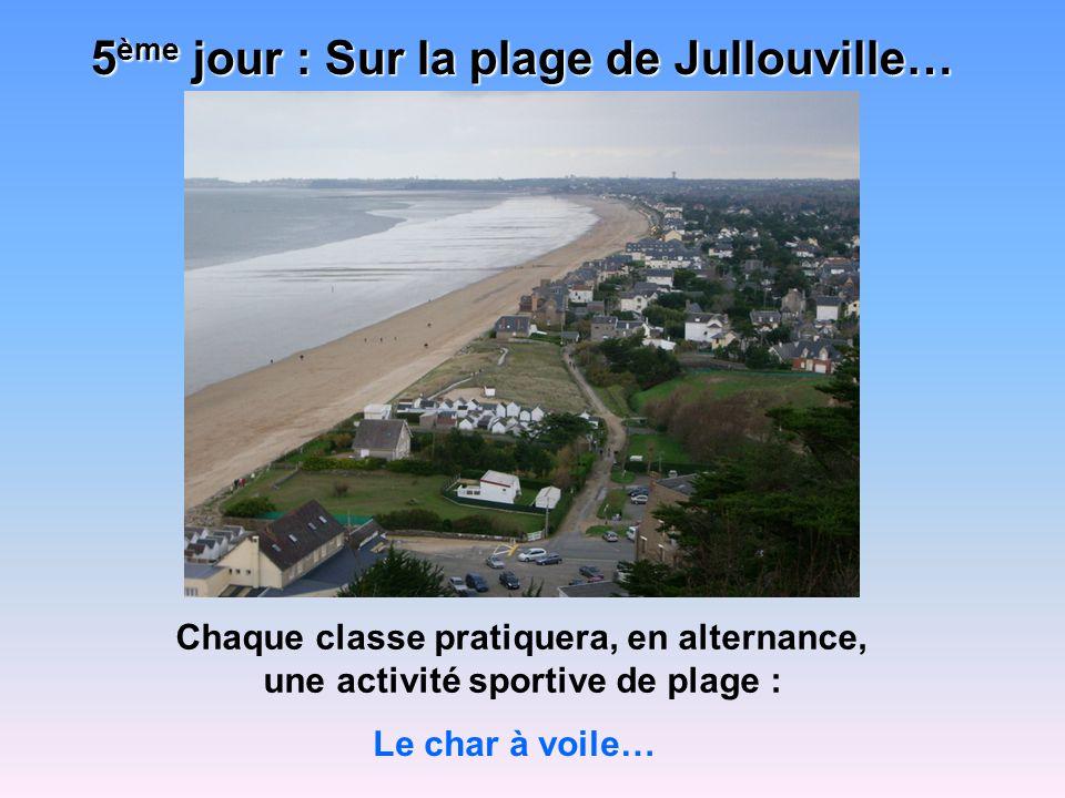 5ème jour : Sur la plage de Jullouville…