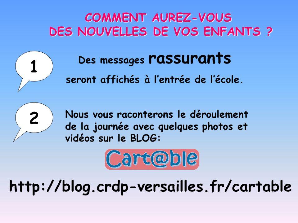 1 2 http://blog.crdp-versailles.fr/cartable COMMENT AUREZ-VOUS