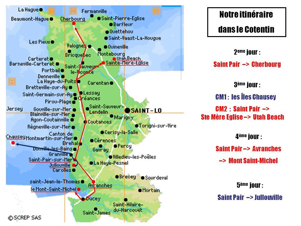Notre itinéraire dans le Cotentin 2eme jour :