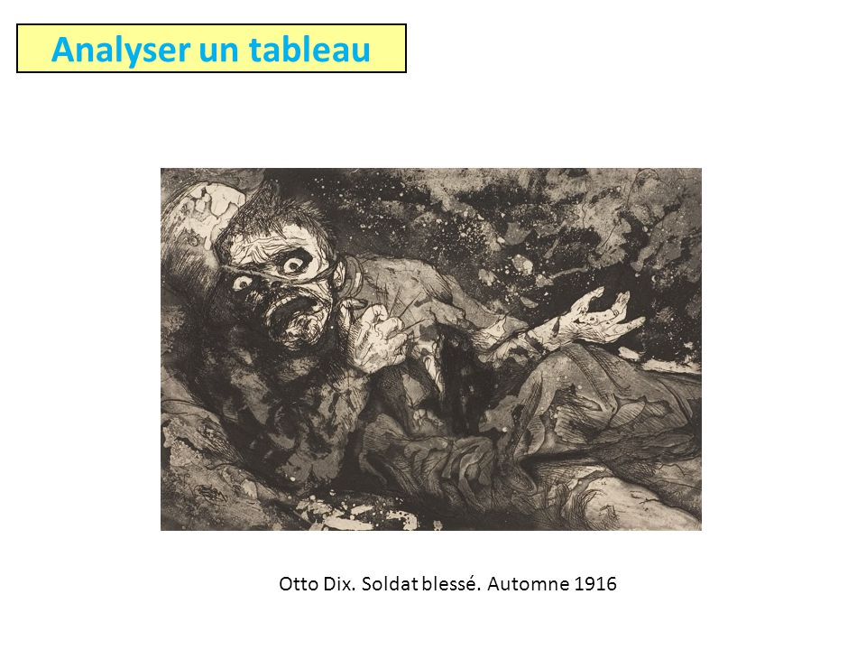 Otto Dix. Soldat blessé. Automne 1916