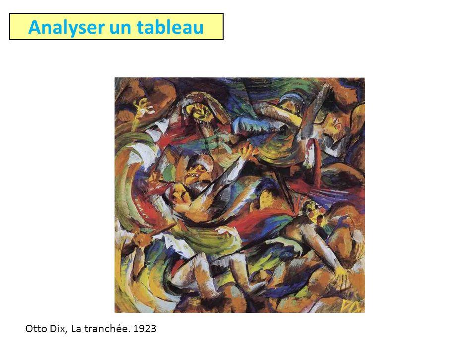 Analyser un tableau Otto Dix, La tranchée. 1923