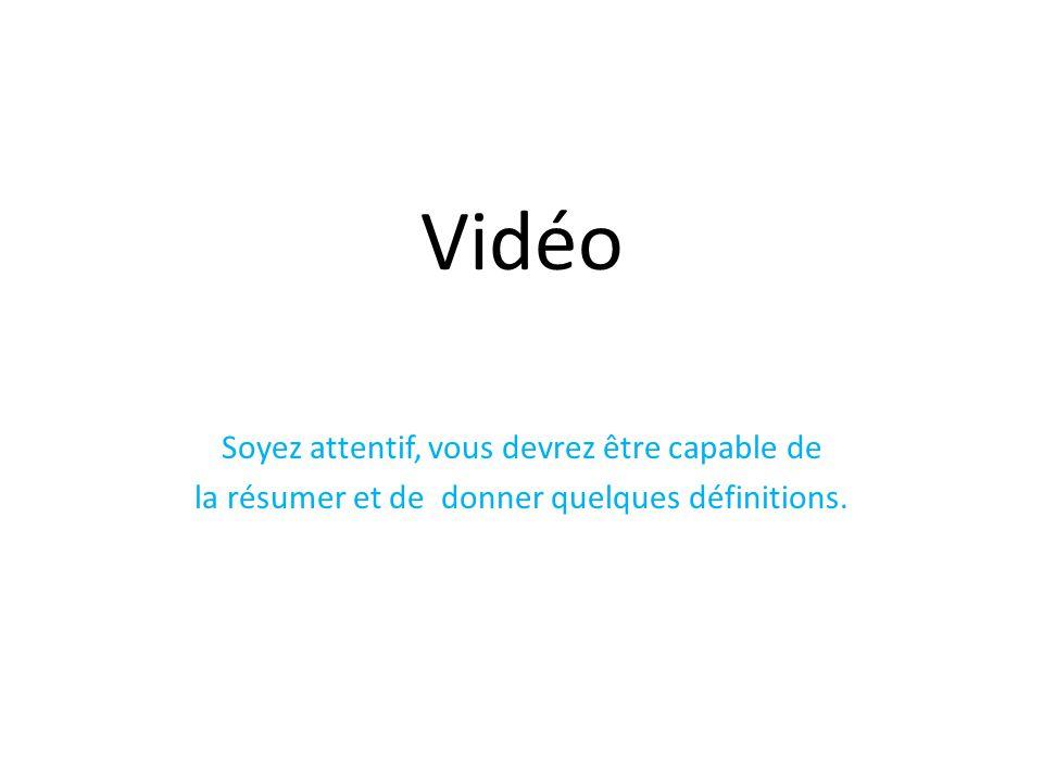 Vidéo Soyez attentif, vous devrez être capable de