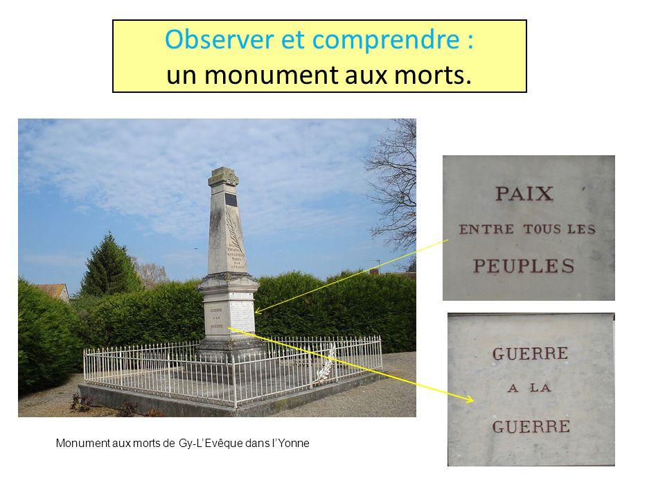 Observer et comprendre : un monument aux morts.