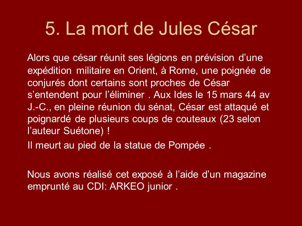 5. La mort de Jules César