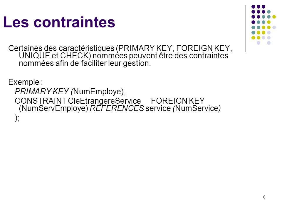 Les contraintes LTPICOF / STG GSI.