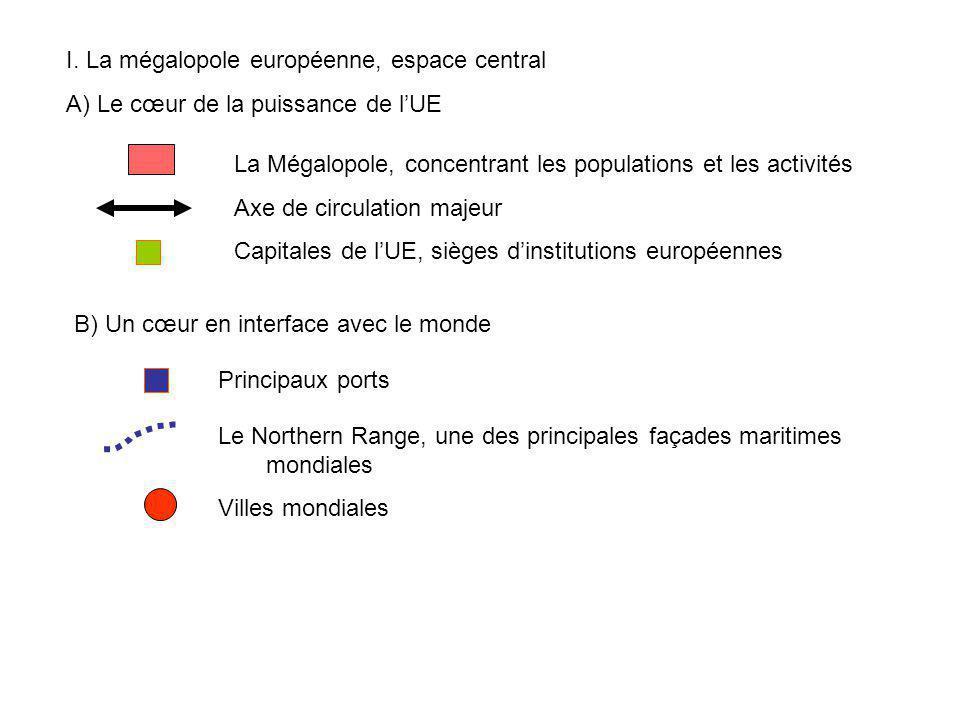 I. La mégalopole européenne, espace central
