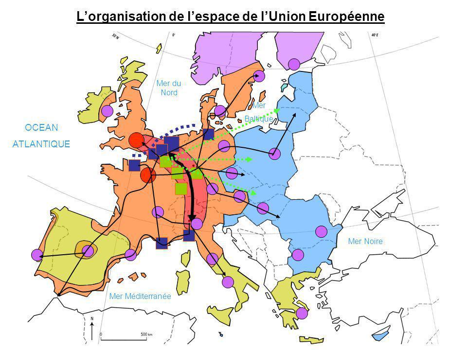 L'organisation de l'espace de l'Union Européenne