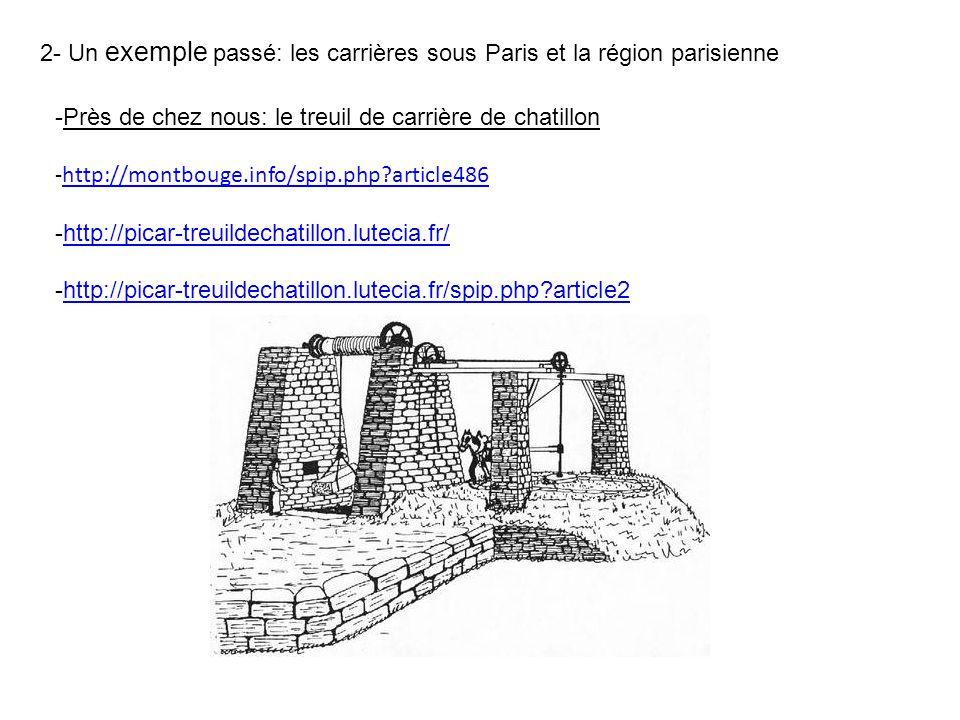 2- Un exemple passé: les carrières sous Paris et la région parisienne