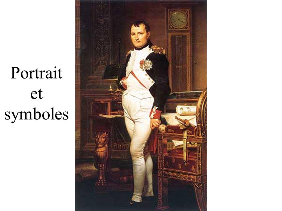 Portrait et symboles DAVID Jacques Louis (1748-1825)Napoléon dans son cabinet de travail aux Tuileries Washington, National Gallery of Art.