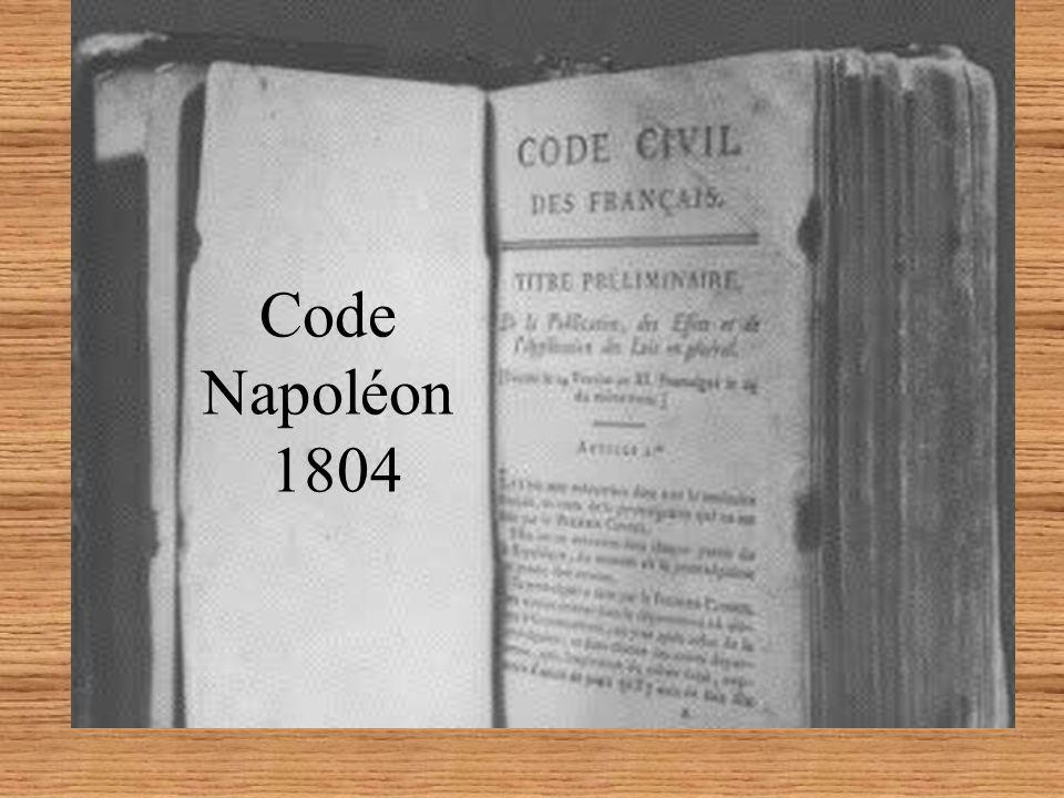 Code Napoléon 1804 Code Napoléon 21 mars 1804