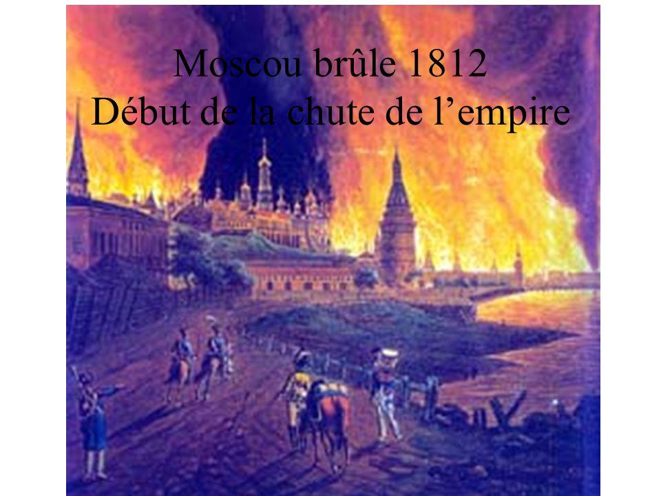 Moscou brûle 1812 Début de la chute de l'empire