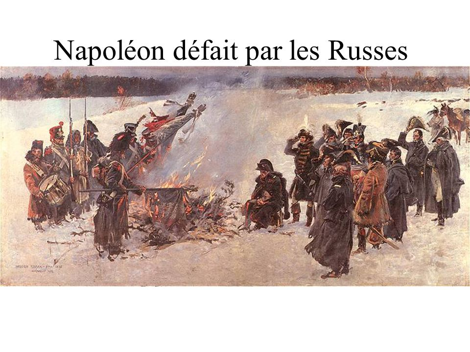 Napoléon défait par les Russes