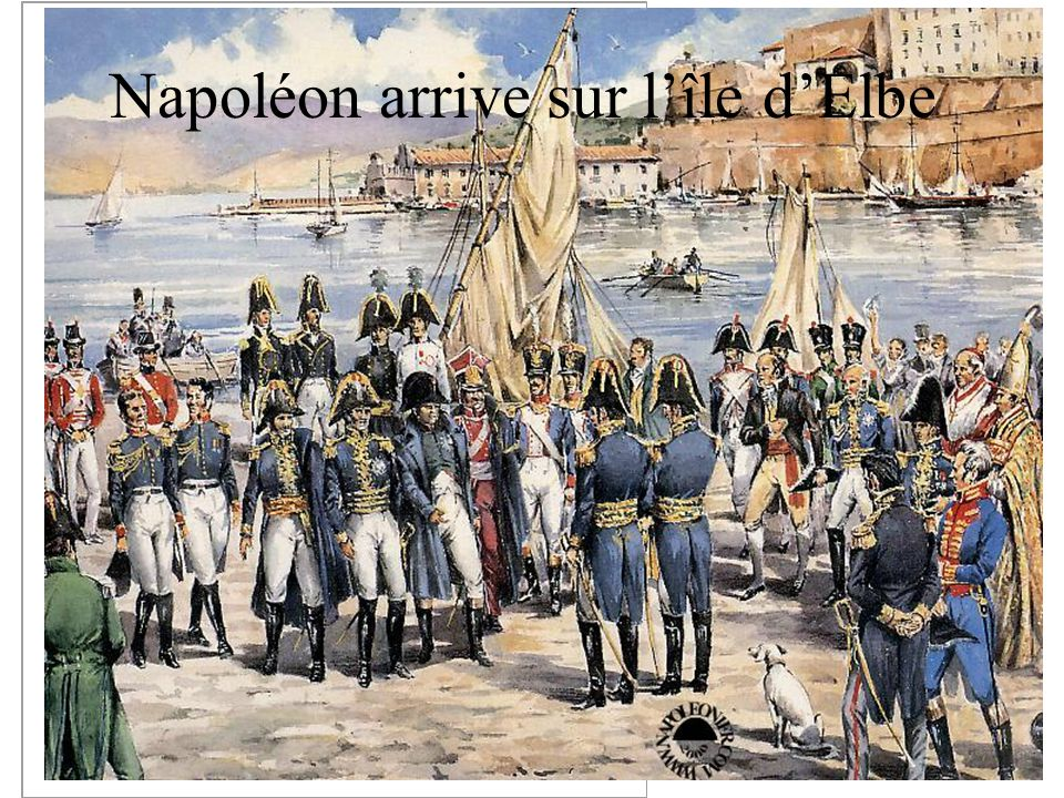 Napoléon arrive sur l'île d'Elbe