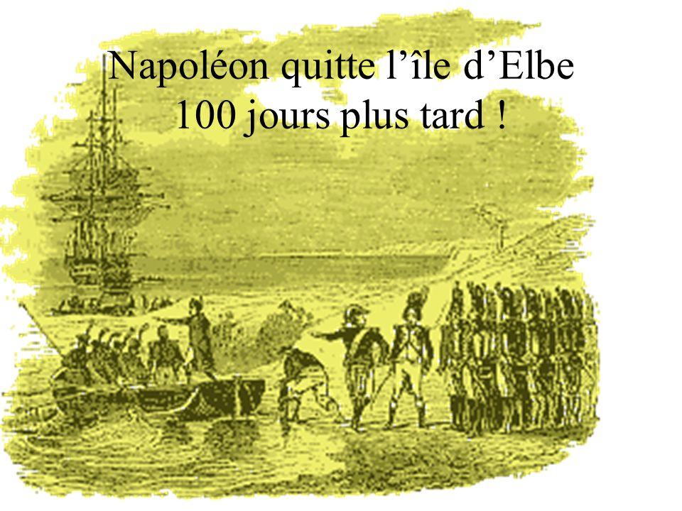 Napoléon quitte l'île d'Elbe 100 jours plus tard !
