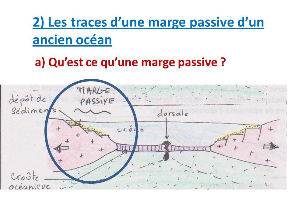 2) Les traces d'une marge passive d'un ancien océan