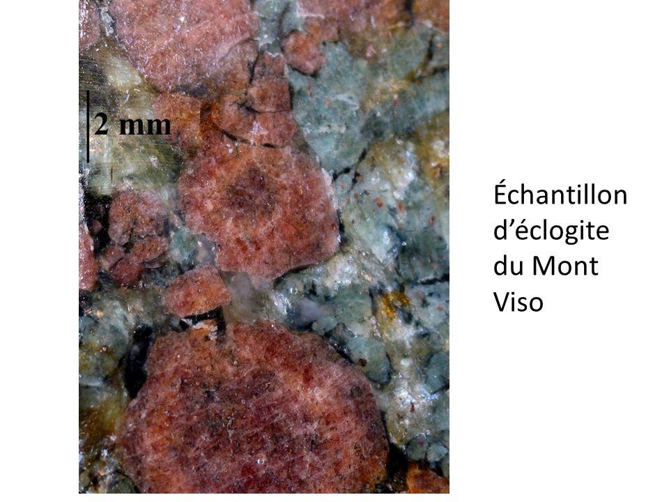 Échantillon d'éclogite du Mont Viso