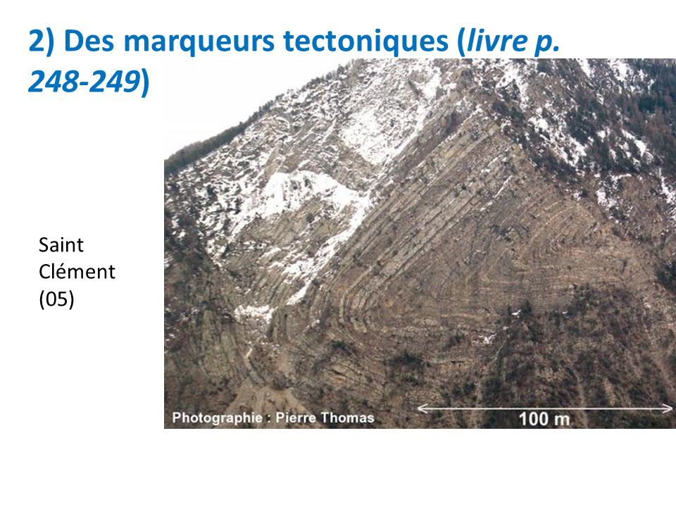 2) Des marqueurs tectoniques (livre p. 248-249)