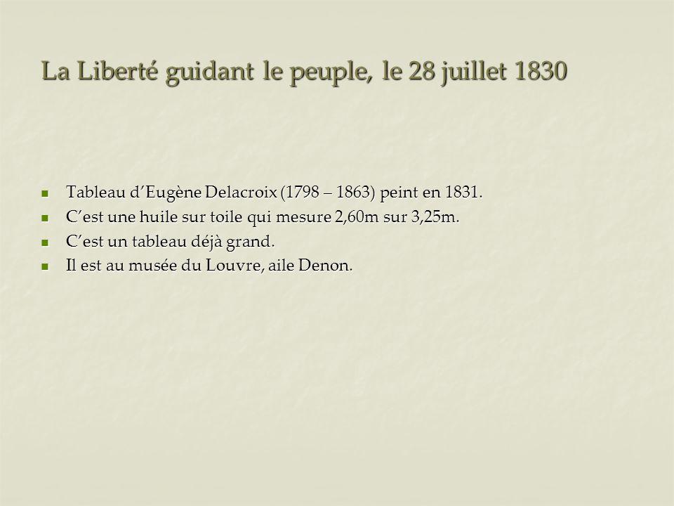 La Liberté guidant le peuple, le 28 juillet 1830