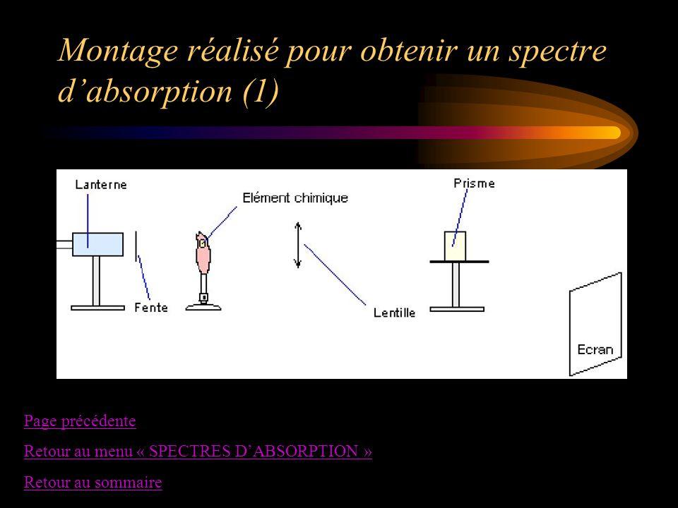 Montage réalisé pour obtenir un spectre d'absorption (1)