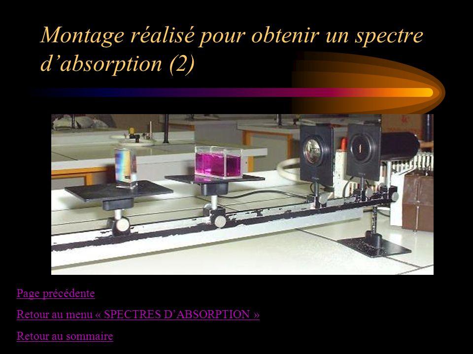 Montage réalisé pour obtenir un spectre d'absorption (2)