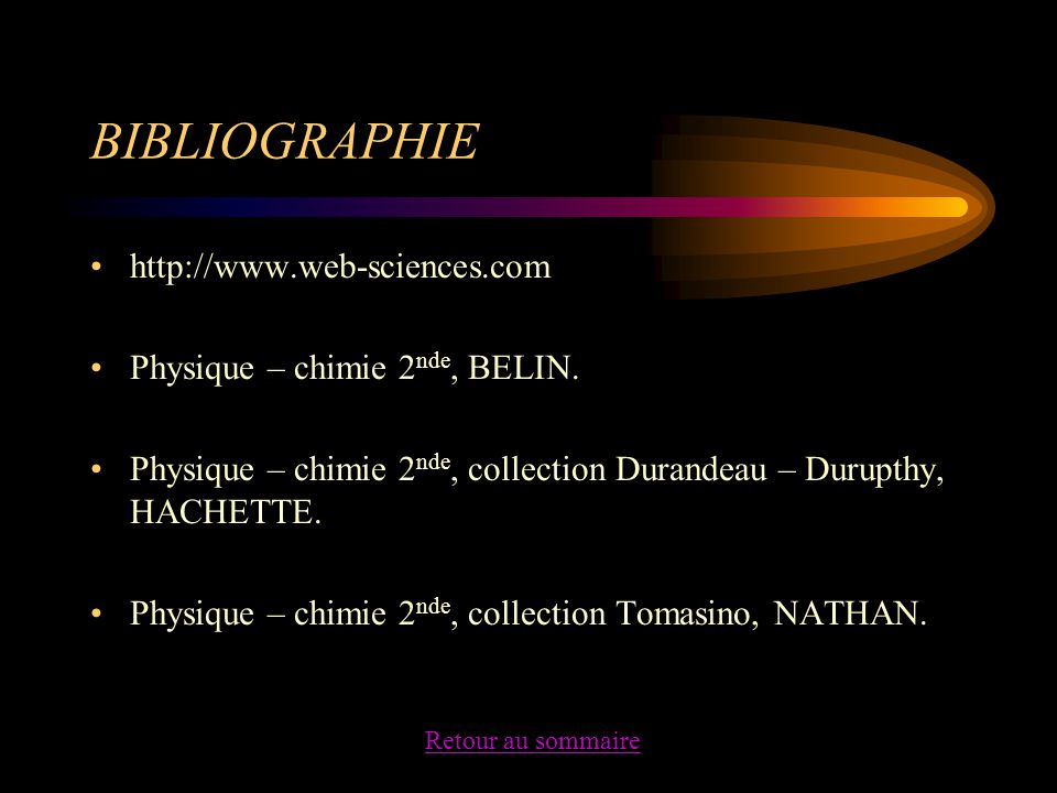 BIBLIOGRAPHIE http://www.web-sciences.com