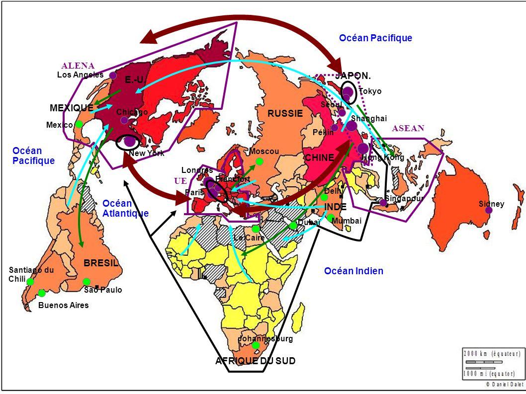 Océan Pacifique ALENA JAPON. E.-U. MEXIQUE RUSSIE ASEAN