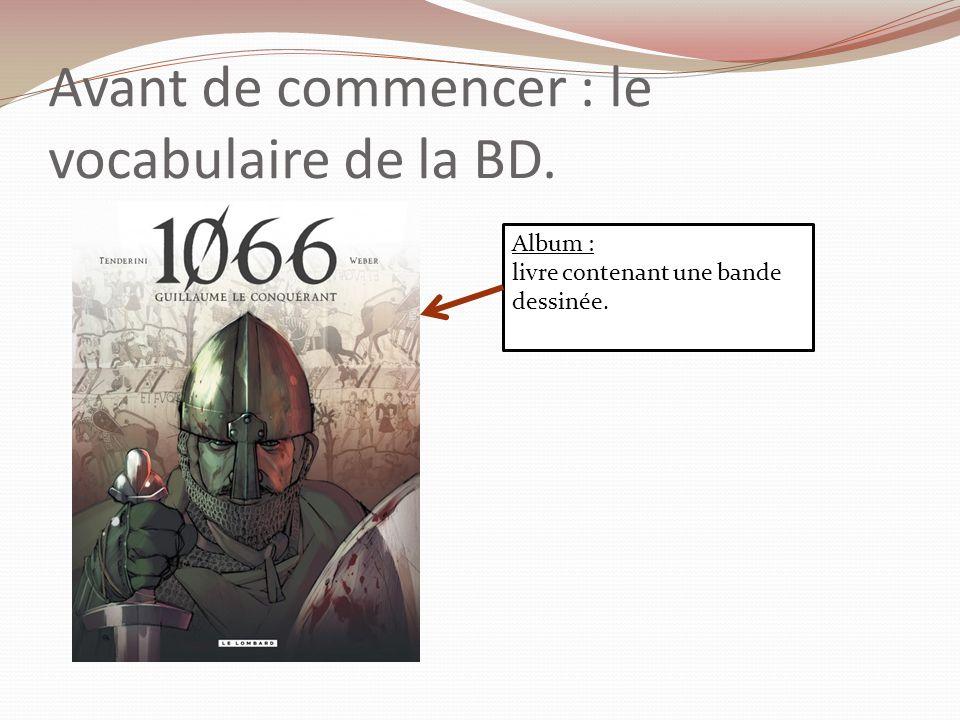 Avant de commencer : le vocabulaire de la BD.