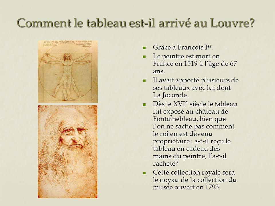 Comment le tableau est-il arrivé au Louvre