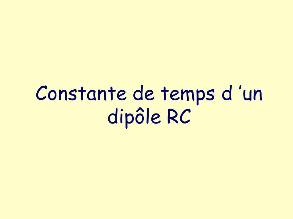 Constante de temps d 'un dipôle RC