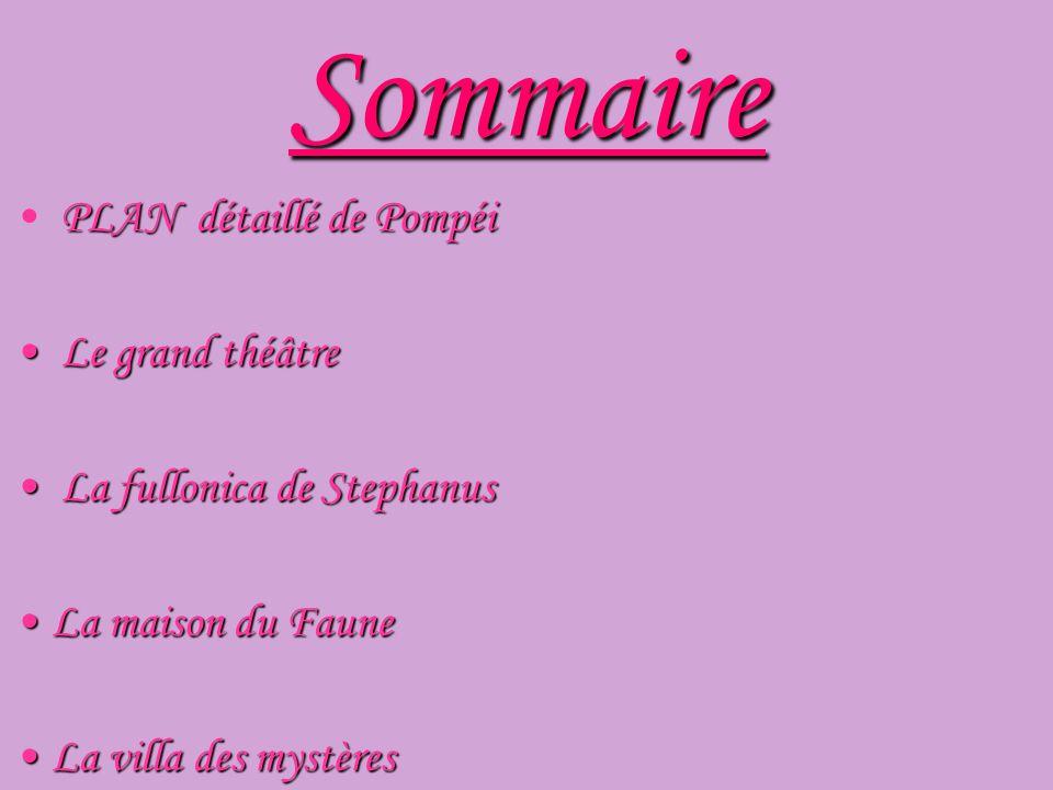 Sommaire PLAN détaillé de Pompéi Le grand théâtre