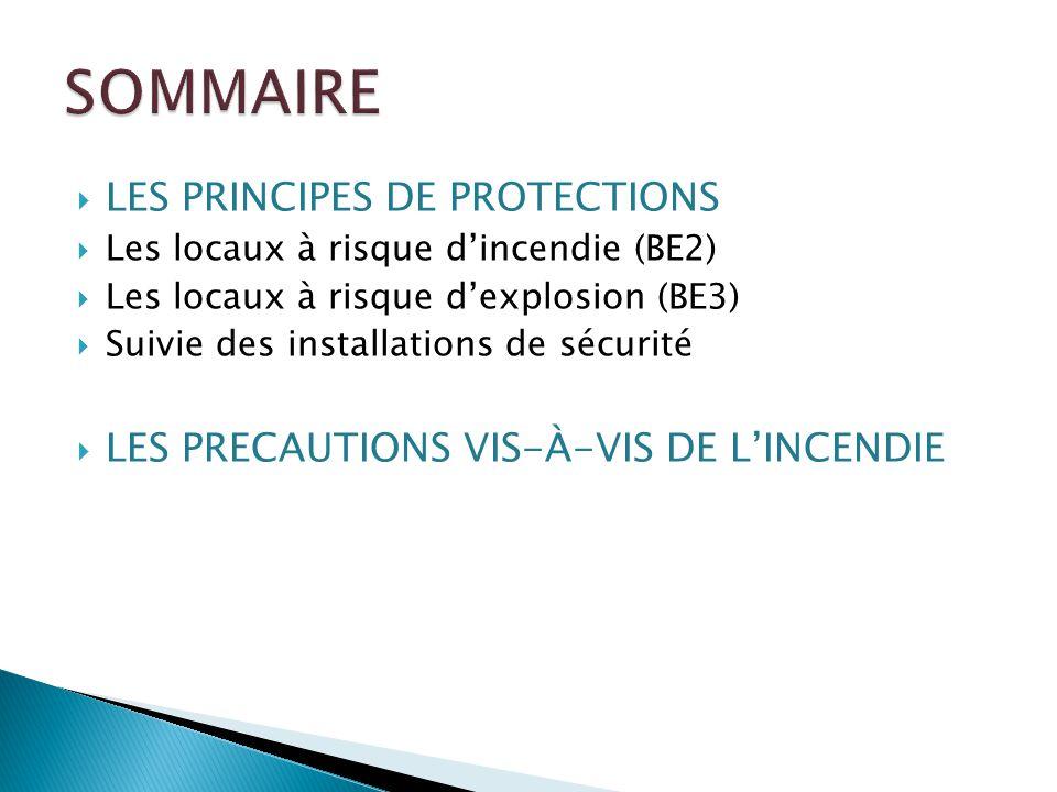 SOMMAIRE LES PRINCIPES DE PROTECTIONS