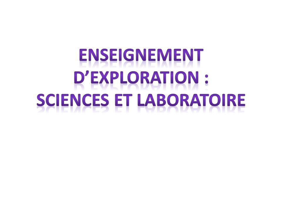 Enseignement d'Exploration : Sciences et laboratoire