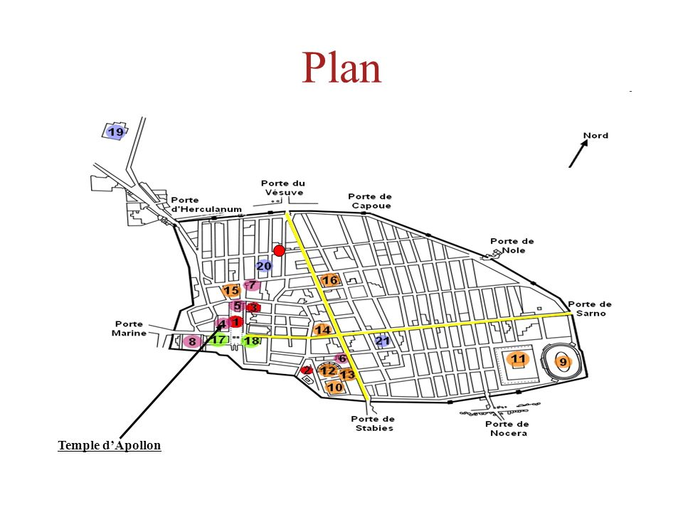 Plan Temple d'Apollon
