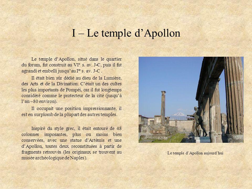 Le temple d'Apollon aujourd'hui