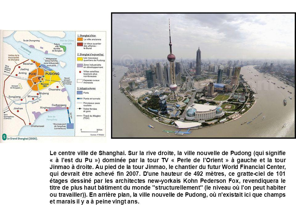 Le centre ville de Shanghai