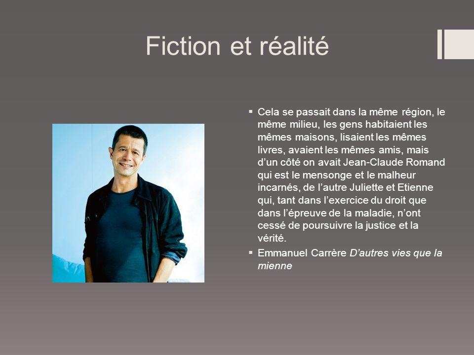 Fiction et réalité