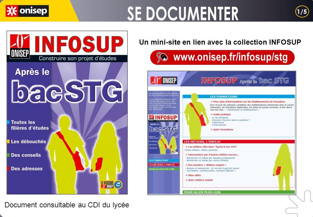 Un mini-site en lien avec la collection INFOSUP