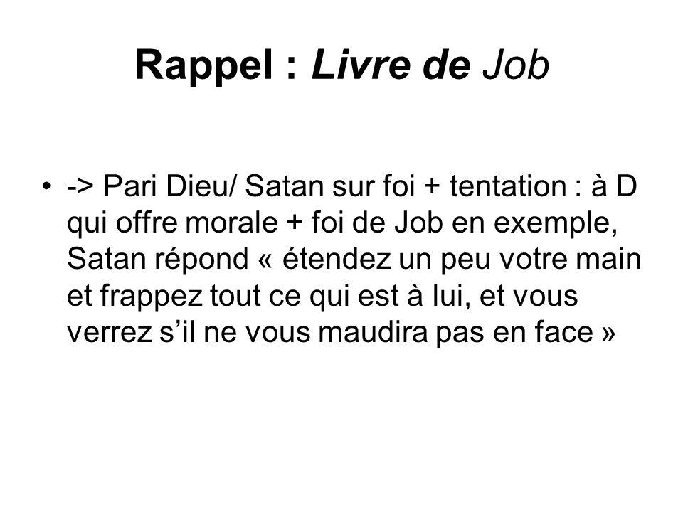 Rappel : Livre de Job