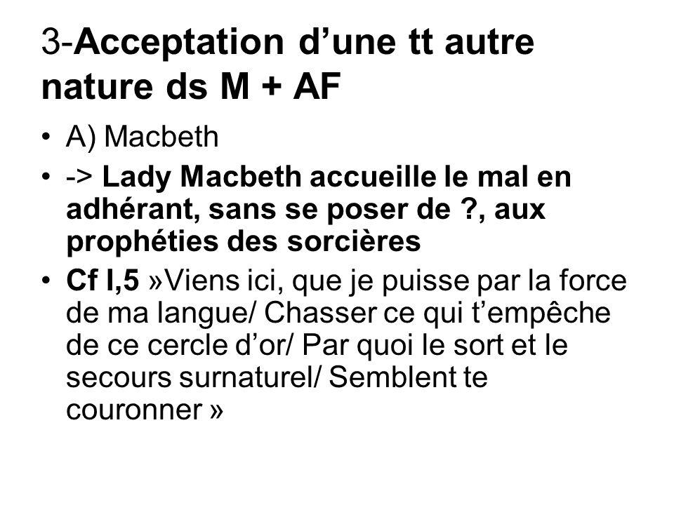3-Acceptation d'une tt autre nature ds M + AF