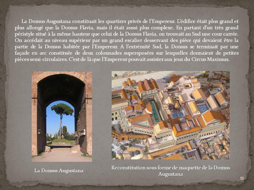Reconstitution sous forme de maquette de la Domus Augustana