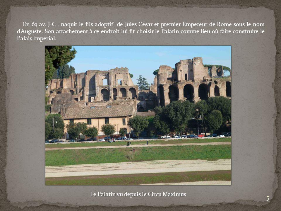 Le Palatin vu depuis le Circu Maximus