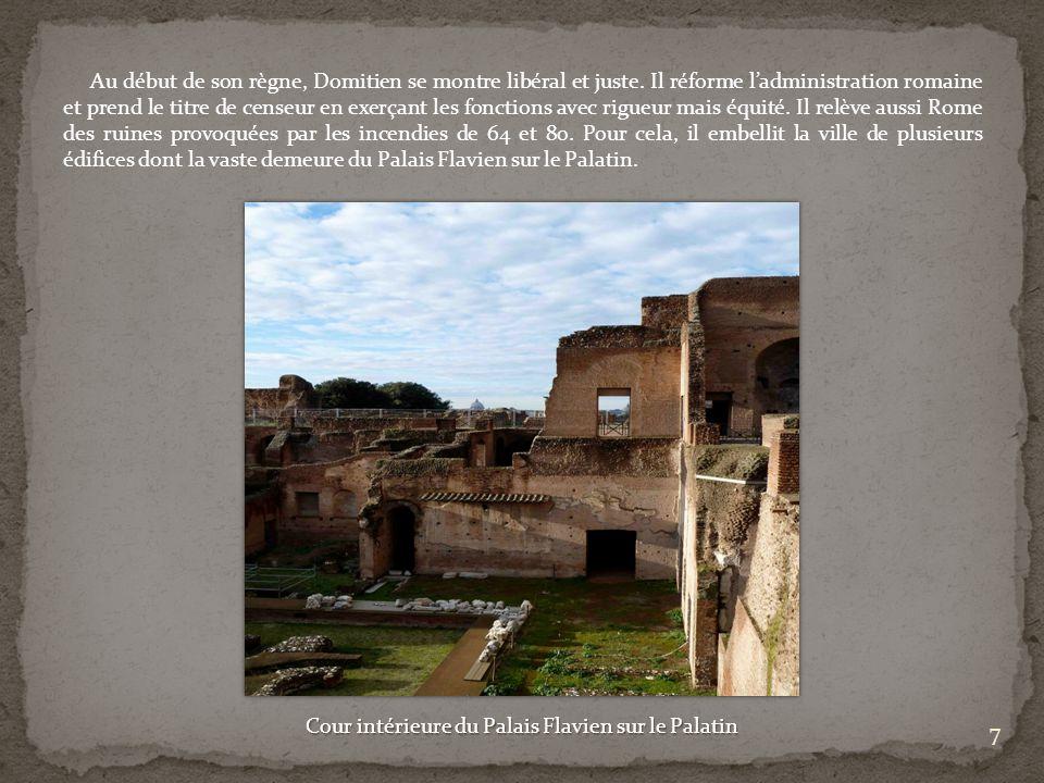 Cour intérieure du Palais Flavien sur le Palatin