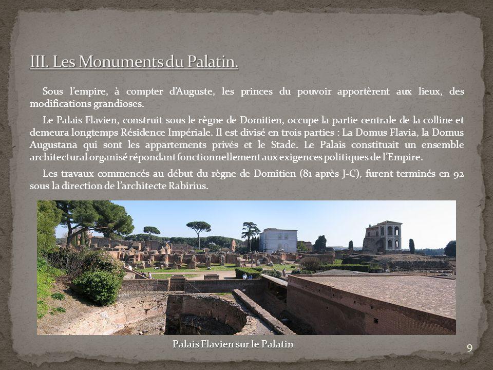 III. Les Monuments du Palatin.