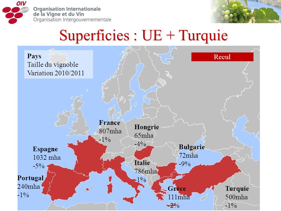 Superficies : UE + Turquie