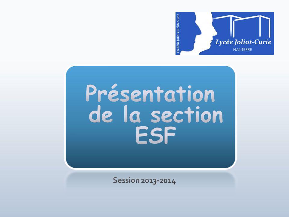 Présentation de la section ESF